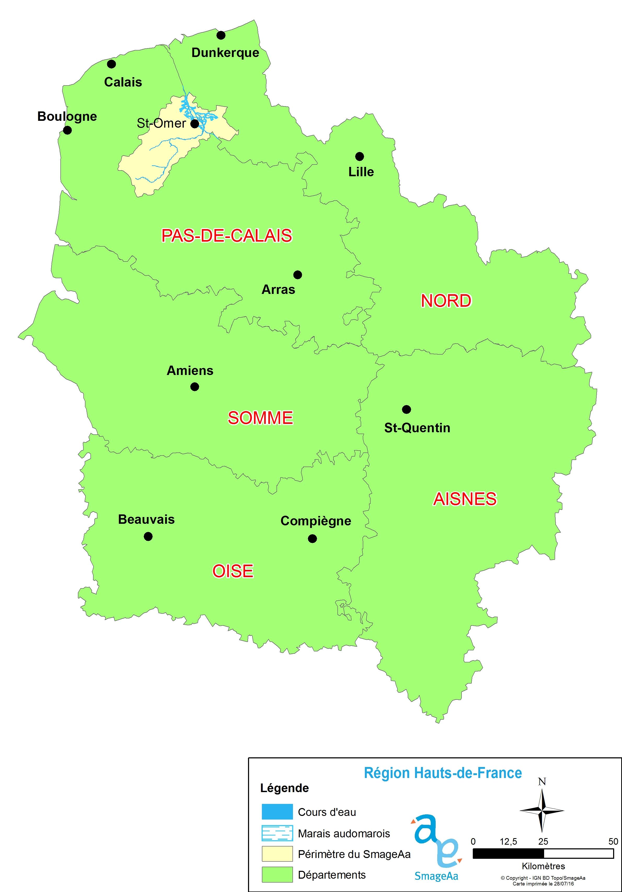 Le SmageAa dans la Région Hauts de France