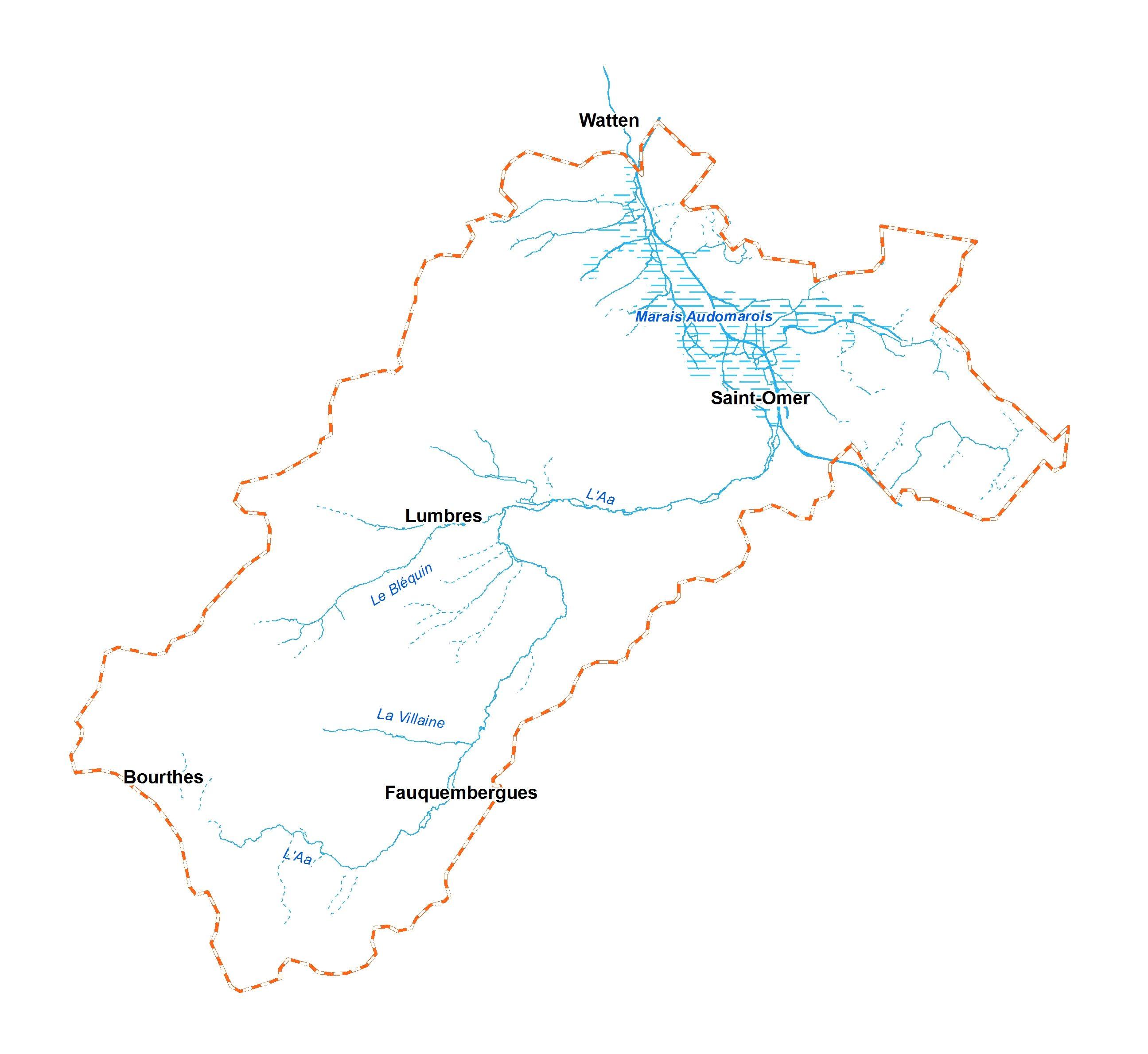 SmageAa | Réseau hydrographique et périmètre