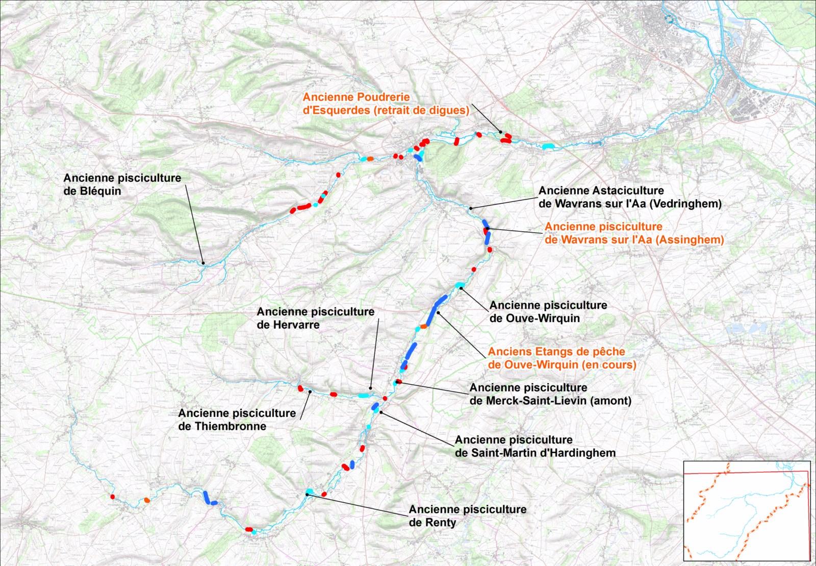 Localisation des projets potentiels