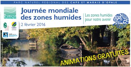 Journée mondiale des zones humides 2016 dans l'Audomarois