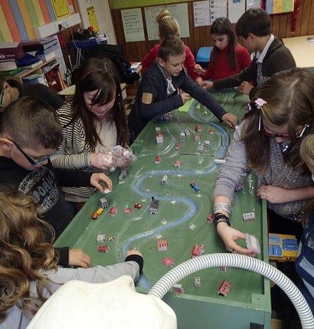 Intervention du SmageAa dans l'une des classes participantes lors de l'année scolaire 2013-2014