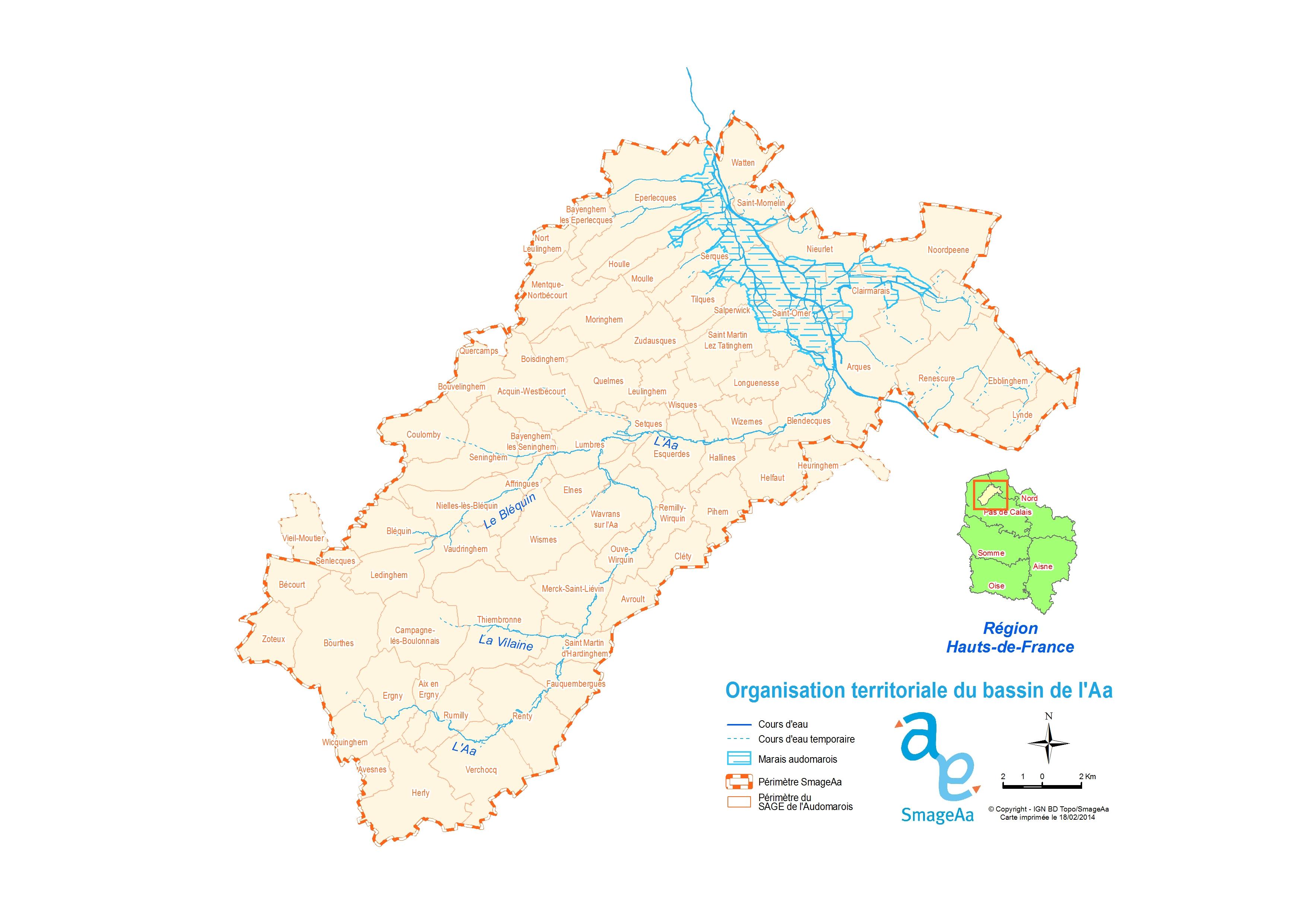 Réseau hydro + communes SmageAa-cle