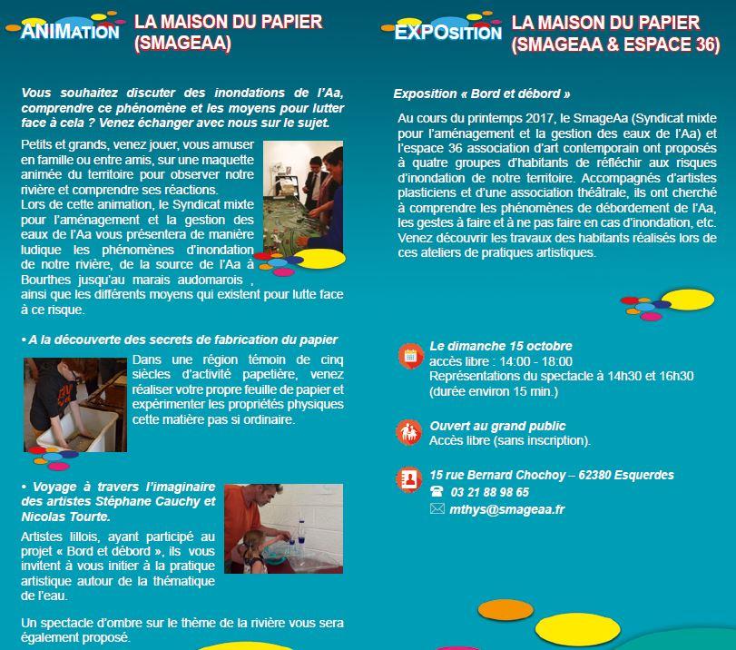 Programme SmageAa - Fête de la science 2017