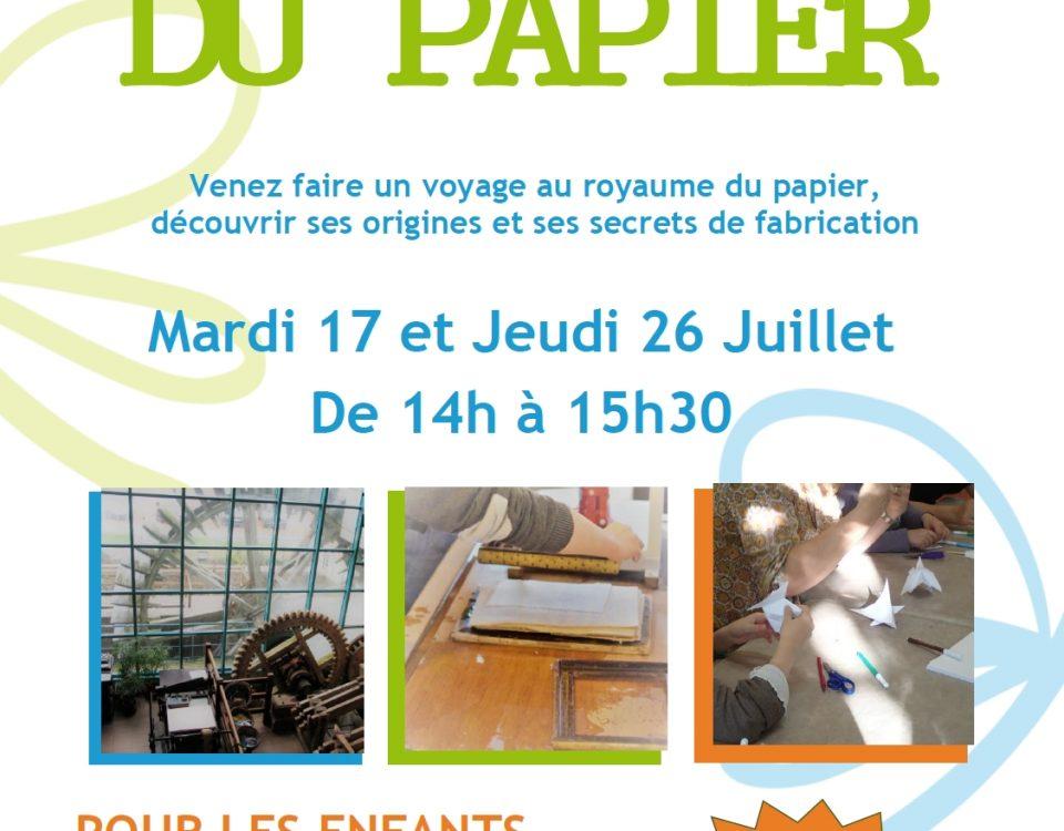SmageAa | Maison du Papier | Ateliers été 2018