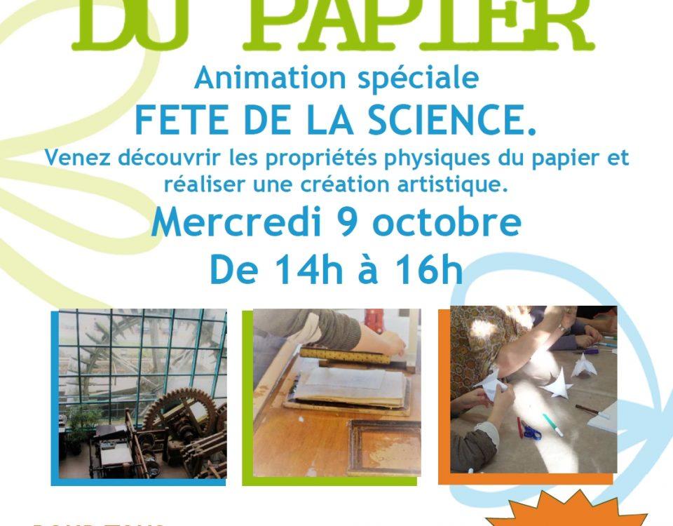 Maison du Papier | Fête de la science - octobre 2019